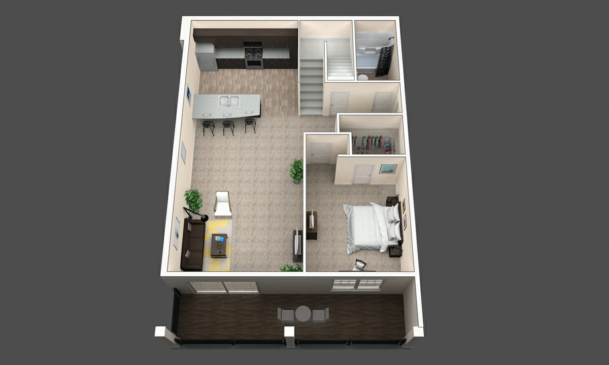 Redwood is a 3BR apartment