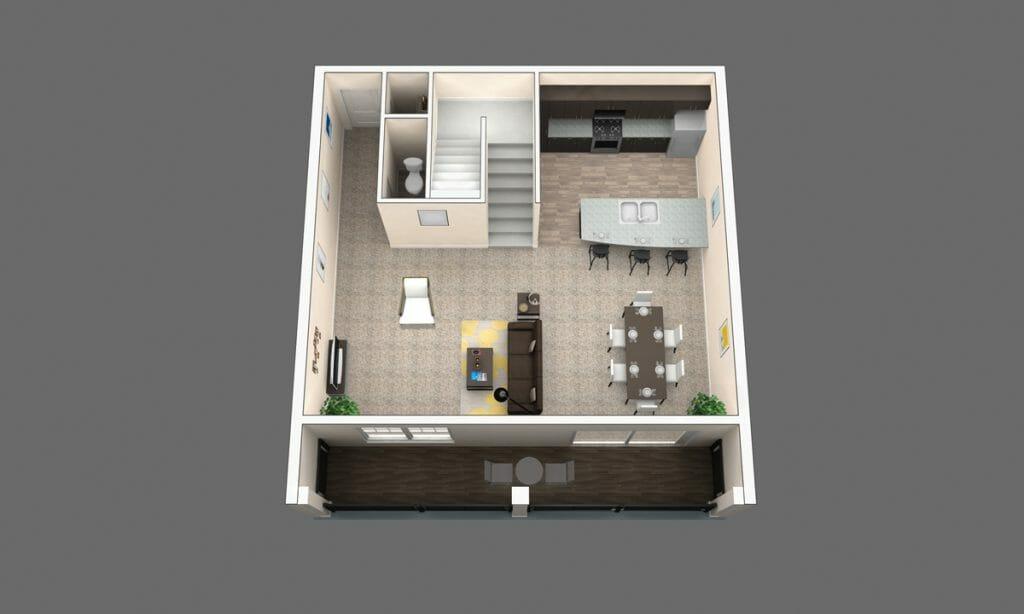 The Oak: 2 Bedroom Apartment